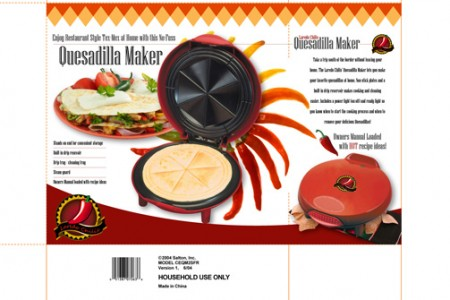 Quesadilla Maker – Packaging Design