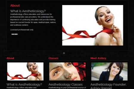 Aestheticology WordPress eCommerce Website