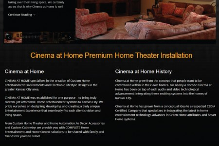 Cinema at Home – Home Theater Website Design