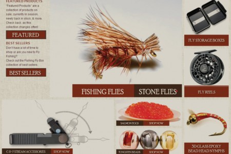 Fishing Fly Box Custom Magento Go Website Design