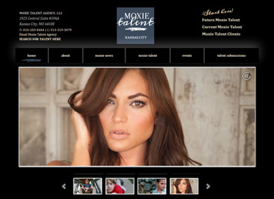 Moxie Talent Agency – Custom Website Design