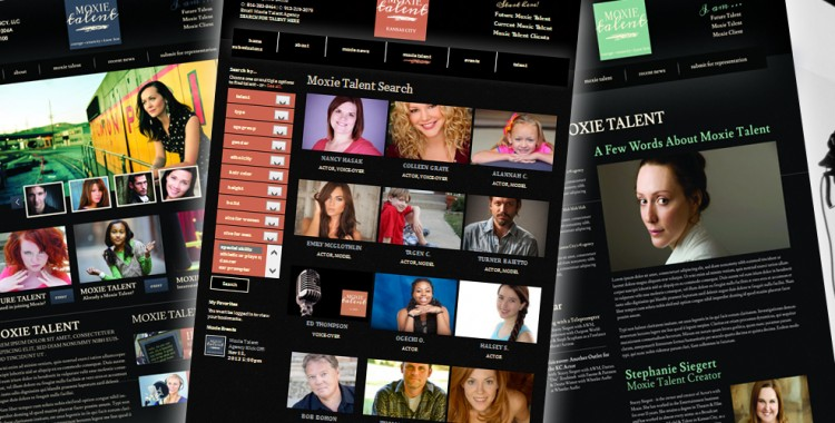 Moxie Talent Agency - Custom Website Design