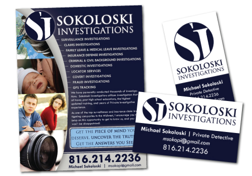 Sokoloski Private Investigator Flyer Design